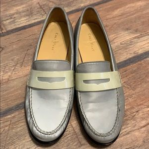 Cole Haan Gray Shimmer Loafer Slip On Shoes 9